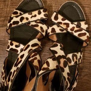 Cheetah/Leopard print sandals